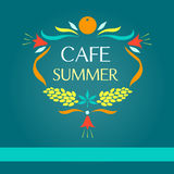 Template vector logo. Sammer cafe vector illustration