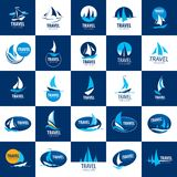Vector logo Yacht. Template Vector Yacht logo. Illustration for travel and leisure Stock Image