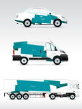 Template vehicle for advertising, branding or corporate identity. Royalty Free Stock Images