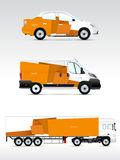 Template vehicle for advertising, branding or corporate identity. Royalty Free Stock Photography