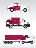 Template vehicle for advertising, branding or corporate identity. Stock Photography
