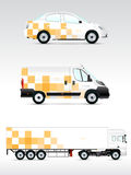 Template vehicle for advertising, branding or corporate identity. Royalty Free Stock Photos