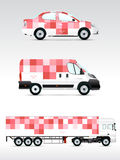 Template vehicle for advertising, branding or corporate identity. Stock Images