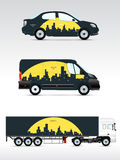 Template vehicle for advertising, branding or corporate identity. Stock Photos