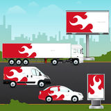 Template vehicle, outdoor advertising or corporate identity. Stock Photo