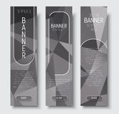 Template vertical web banners with abstract gray background  Royalty Free Stock Image