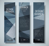 Template vertical web banners with abstract polygonal background Stock Photos