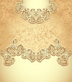 Template vintage background gold Stock Image