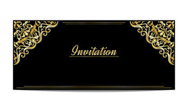 Template of vintage greeting or invitation card.  vector illustration