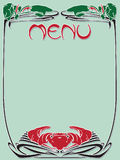 Template vintage menu Royalty Free Stock Image
