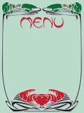 Template vintage menu stock illustration
