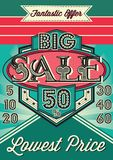 Template vintage poster for the big sale. Template vector vintage poster for the big sale Stock Photography