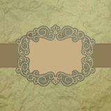 Template of vintage worn card. EPS 8 Stock Photography