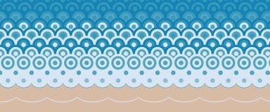Template sea geometric pattern seashore vector illustration royalty free illustration