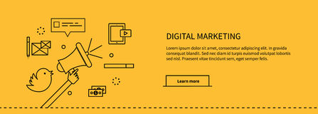 Template Web Page About Digital Marketing Royalty Free Stock Photo