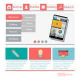 Template web site. In a flat design Stock Photos