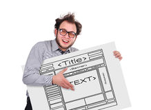 Template webpage Stock Photography