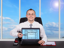 Template webpage Stock Image