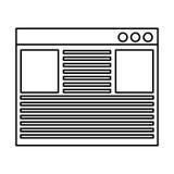 Template webpage isolated icon. Illustration design Stock Image