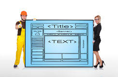 Template website Stock Image