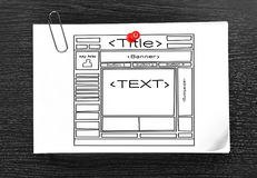 Template website Stock Photography