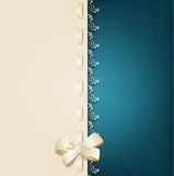 Template for wedding background with lace, satin ribbon a Royalty Free Stock Images