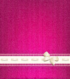 Template for wedding background with lace, satin ribbon a Royalty Free Stock Photography