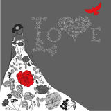 Template for wedding card Royalty Free Stock Photography
