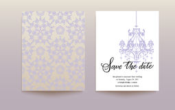 Template wedding card Royalty Free Stock Images