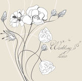 Template for wedding invitation Stock Photo