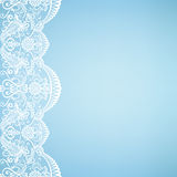 Card with lace. Template for wedding, invitation or greeting card with lace fabric background Stock Photos