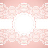 Card with lace Royalty Free Stock Images