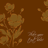 Template for wedding invitations. Vector background Royalty Free Illustration