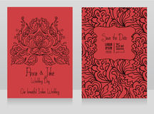 Template for wedding invitations in indian style Royalty Free Stock Photo