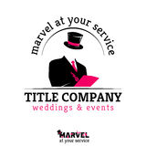 Template for weddings and events company Royalty Free Stock Photo