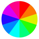 Template wheel fortune, color palette, vector. Template wheel of fortune, color palette, vector Royalty Free Stock Photos