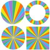 Template wheel of fortune. Pattern wheel elements to build a wheel of fortune, vector template Stock Photos