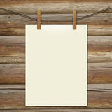 Template white bumani hanging on clothespins Stock Photography