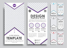 Template white flyer size of 210x99 mm. Stock Photo