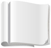 Template white open magazine Stock Images