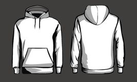 Template white sweatshirt. Front and back royalty free illustration