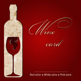 Template of a wine card Stock Photography