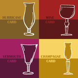 Template of a wine card. Stock Photography