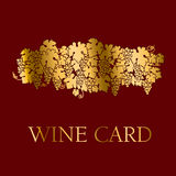 Template for wine label Royalty Free Stock Images