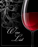 Template for wine list. Vector illustration Stock Photos