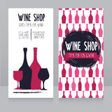 Template for wine shop business card Stock Image