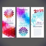 Template winter banners vector design Stock Photos