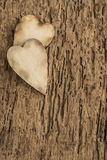 Template with wooden hearts Royalty Free Stock Photos