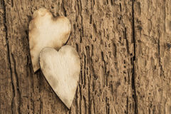 Template with wooden hearts Royalty Free Stock Photo