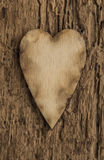 Template with wooden hearts Stock Photos